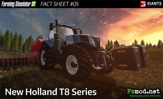FS17 New Holland T8 Series - Fact Sheet 5