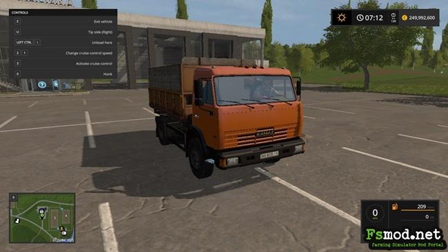 FS17 - Kamaz 43255S Russian Truck V1