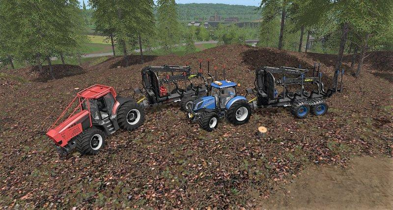 FS17 - Kronos Forwarder Trailer With Crane V1.0