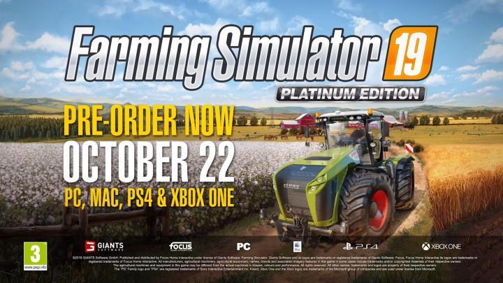 FS19 - Platinum Edition Teaser #1