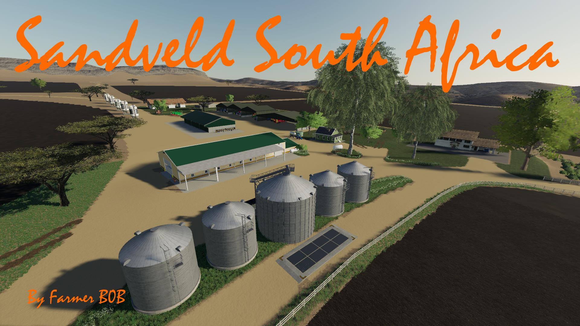 Sandveld South Africa Map V001