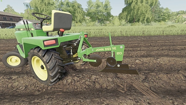 John Deere Model 20 Plough for John Deere 332 V1