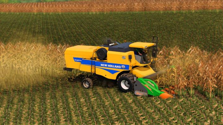 New Holland Tc 5070 And Varifeed 20Ft V1