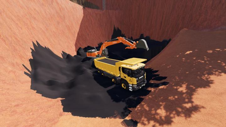 Scania Xt 8X8 Mining Truck V1