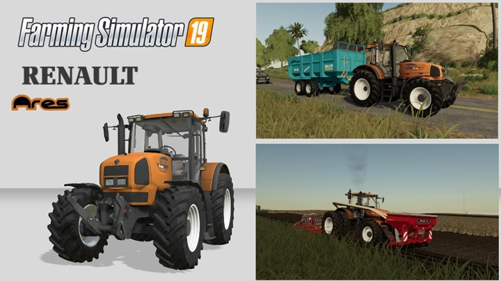 Renault Ares 836 RZ Tractor V1