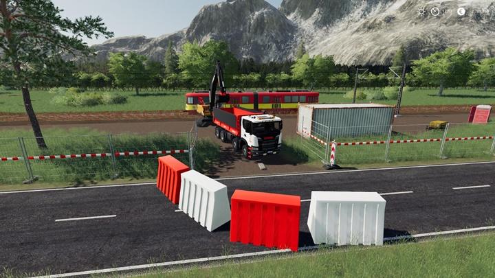 Plastic Road Barrier Pack V1