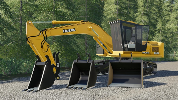 John Deere 2054 Logger Series Road Builder V1