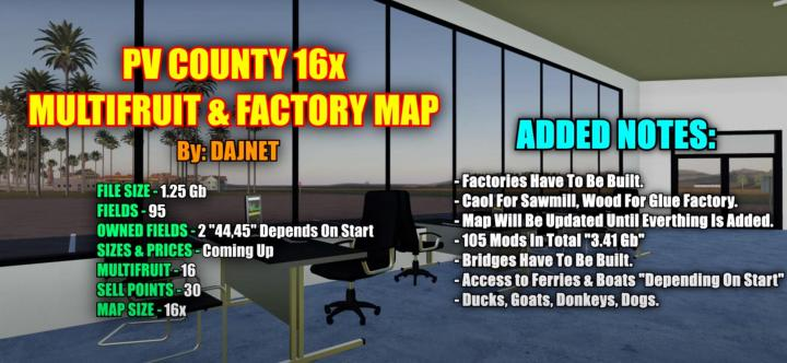 Pleasant Valley County 16X Map V1.1.2