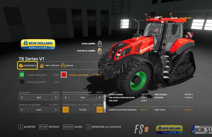 New Holland T8 V1 & V2