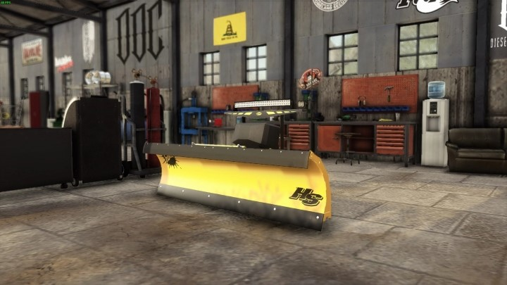 Fisher HS 722 Snow Plow with Lightbars V1.0