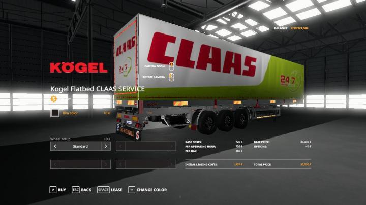 Claas Service Kogel Autoloader Trailer V1.0