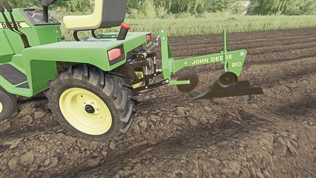 John Deere Model 20 Plough for John Deere 332 V1