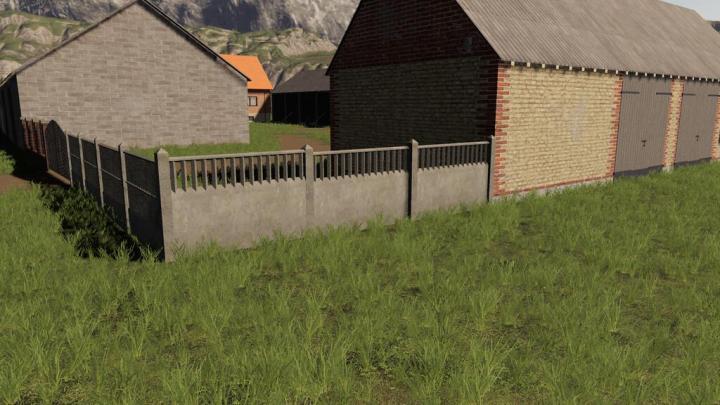 Concrete And Brick Fences Pack V1