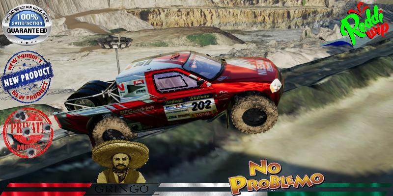 Nissan Navara T1 Pickup Red Dakar V1.5